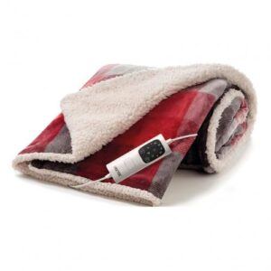 Imetec Deluxe Throw Tartan/White Sherpa 16739