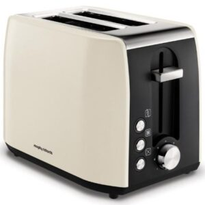 Morphy Richards Stainless Steel 2 Slice Toaster – Cream – 222059