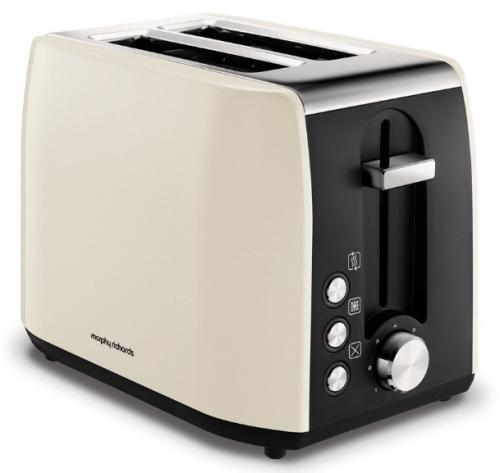 Morphy Richards Stainless Steel 2 Slice Toaster – Cream – 222059