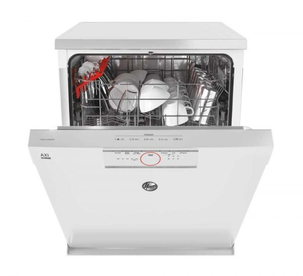 Hoover HDPN1L390OW-80 Full Sized 13 Place Setting Freestanding Dishwasher
