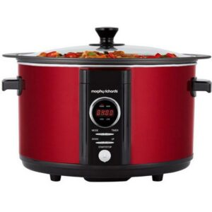 Morphy Richards Evoke Slow Cooker Sear Stew 6.5L Red – 461012