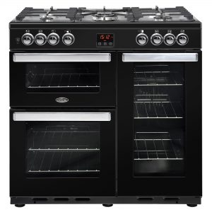 BELLING COOKCENTRE 90CM DUAL FUEL BLK