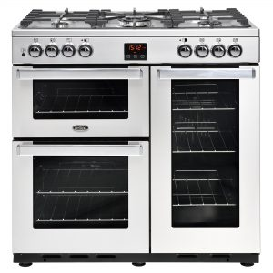 BELLING COOKCENTRE 90CM DUAL FUEL SS