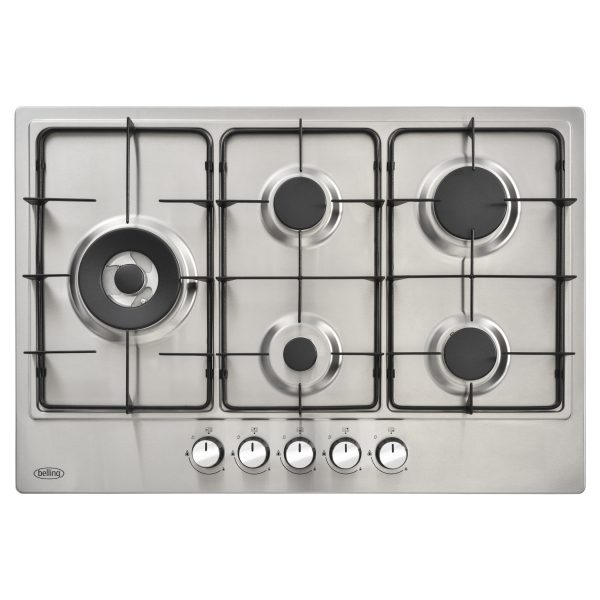 BELLING 5 RING GAS HOB 75CM S/STEEL NG