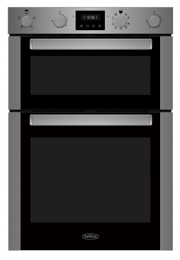 BELLING STAINLESS STEEL DOUBLE OVEN