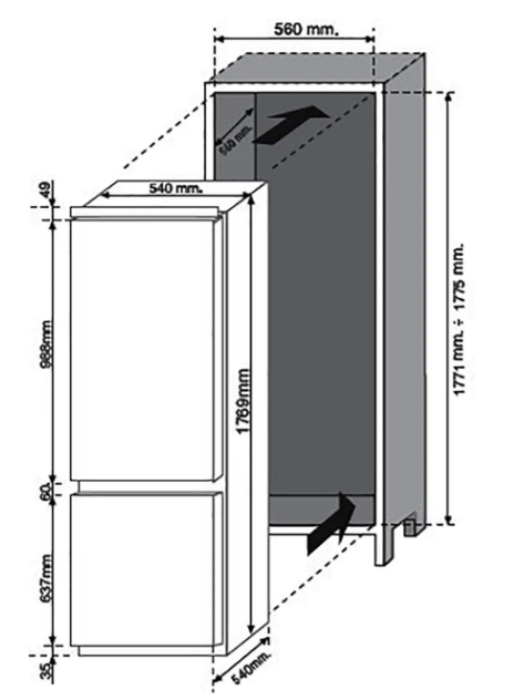 Baumatic BRCIF 3180E Frost Free Integrated Fridge Freezer