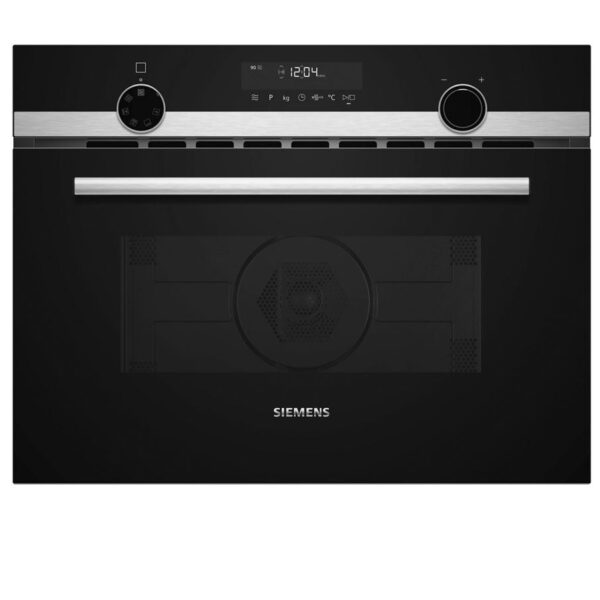 Siemens iQ500, Built-in compact oven with microwave function, 60 cm, Stainless steel CM585AGS0B