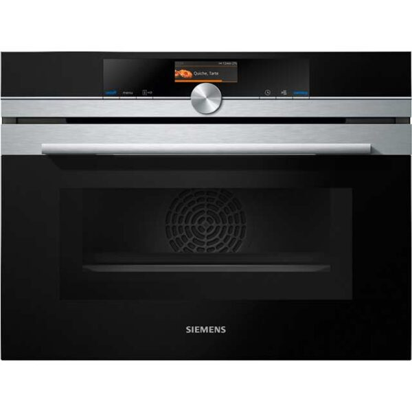 Siemens iQ700, Built-in compact oven with microwave function, 60 cm, Stainless steel – CM656GBS6B