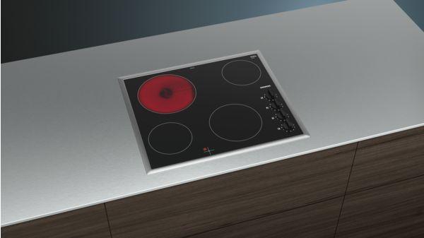 Siemens iQ100, Electric Cooktop, 60 cm, Black
