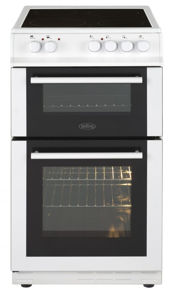 BELLING 50CM DOUBLE CERAMIC F/S COOKER W
