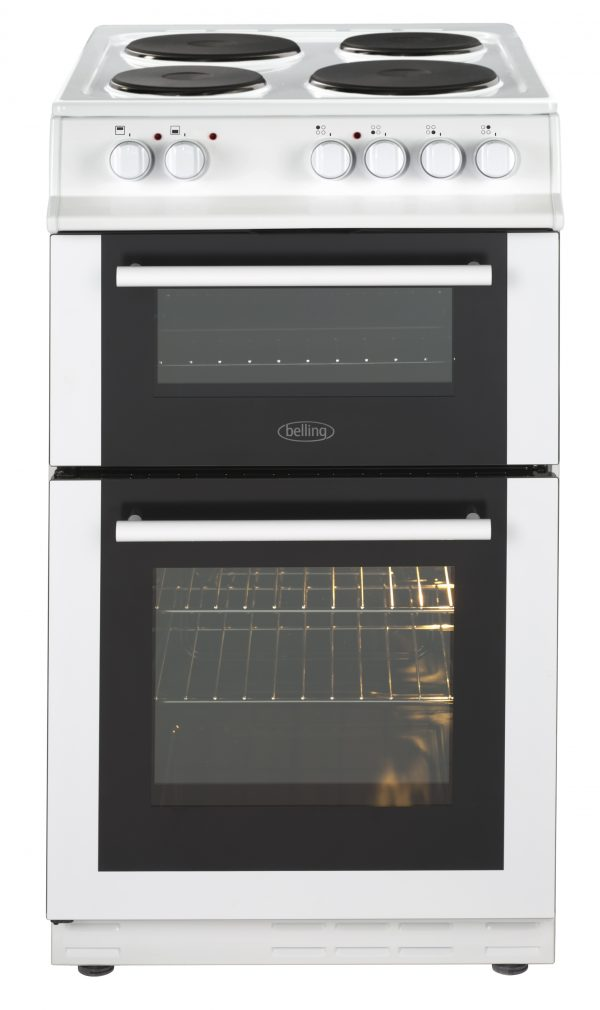 BELLING 50CM TWIN ELECTRIC FREESTANDING COOKER – FS50ETWH