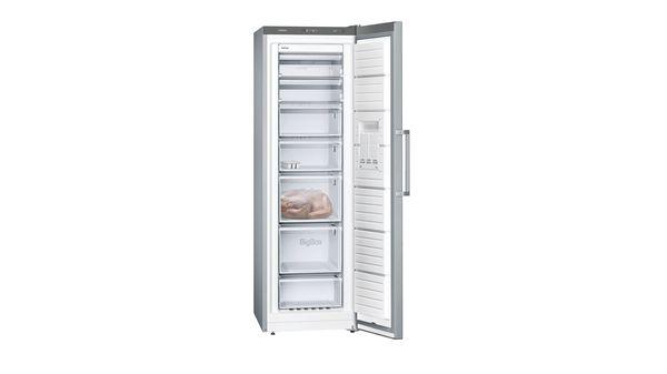 Siemens iQ300, Free-standing freezer, 186 x 60 cm, Inox-easyclean GS36NVIFV