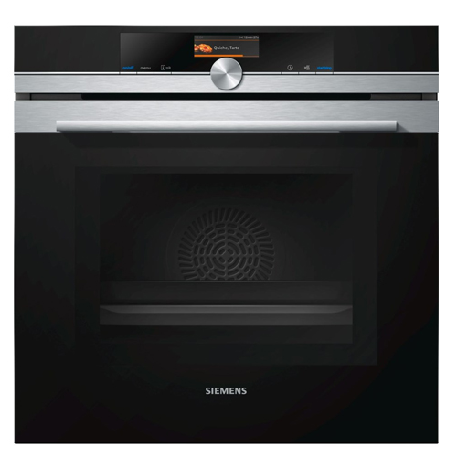 Siemens iQ700, Built-in oven with microwave function, 60 cm, Stainless steel HM676G0S6B