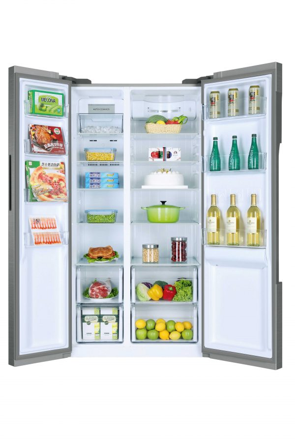 Haier HRF-522IG6 Side By Side 90cm wide Freestanding Fridge Freezer with Plumbed Water dispenser – Silver