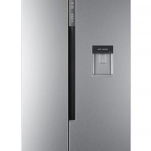 Haier HRF-522WS6 Side By Side 90cm wide Freestanding Fridge Freezer with Water dispenser - Silver