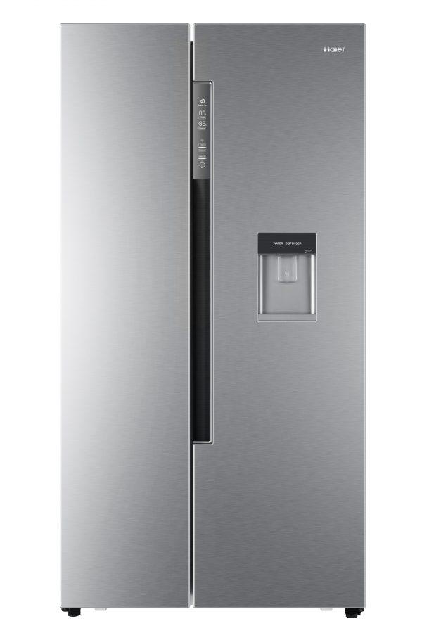 Haier HRF-522WS6 Side By Side 90cm wide Freestanding Fridge Freezer with Water dispenser - Silver