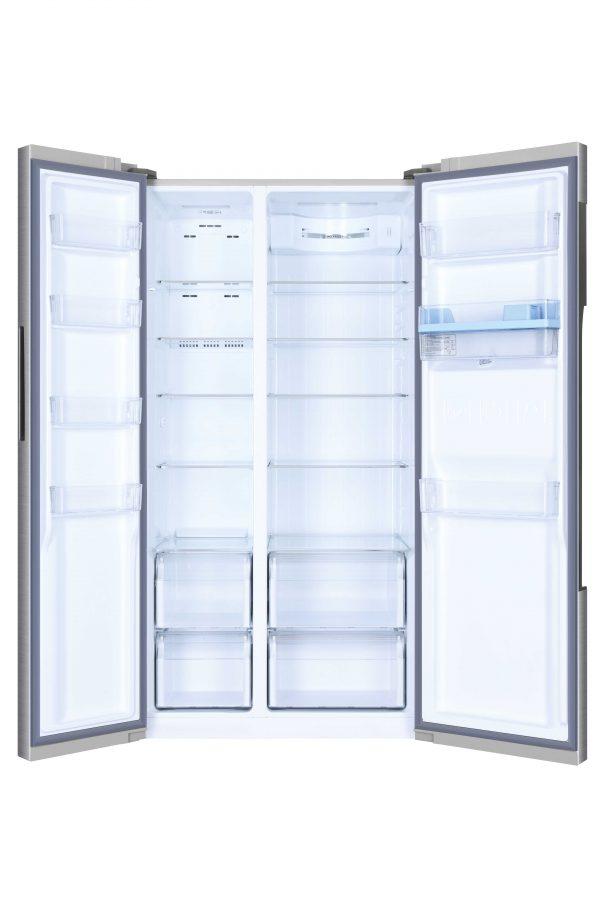 Haier HRF-522WS6 Side By Side 90cm wide Freestanding Fridge Freezer with Water dispenser – Silver