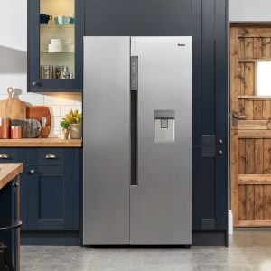 Haier HRF-522IG6 Side By Side 90cm wide Freestanding Fridge Freezer with Plumbed Water dispenser