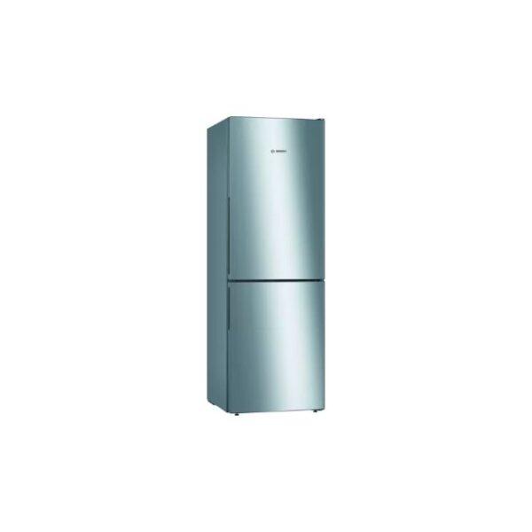 Bosch Serie 4, Free-standing fridge-freezer , 176 x 60 cm, Inox- KGV33VLEAG