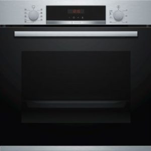 Bosch Serie 4, Pyrolitic Single Oven, 60 cm, Stainless steel - HBS573BSOB