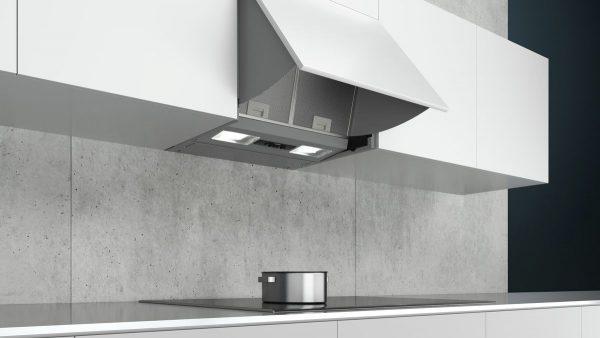 Siemens iQ100, integrated cooker hood, 60 cm, Silver LE63MAC00B