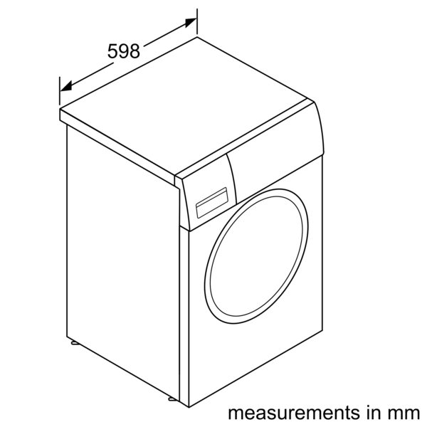 Bosch Serie 6 Washing Machine, Front Loader, 9 kg, 1400 rpm – WAU28T72GB