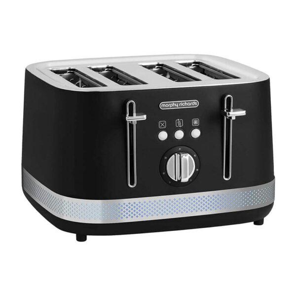Morphy Richards Illumination 4 Slice Toaster – Black-248020