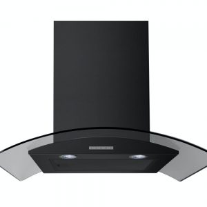 BELLING 90CM HOOD CURVED GLASS BLK