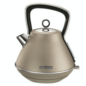 Morphy Richards 1.5L Evoke Special Edition Pyramid Kettle – Platinum – 100103
