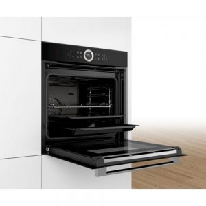 Bosch Serie 8 Single Wall Oven 60cm Black - HBG634BB1B