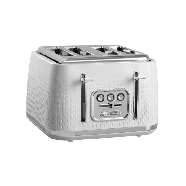 Morphy Richards Verve White Textured 4 Slice Toaster – 243012