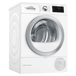 Bosch Serie 6, Heat pump tumble dryer, 9 kg - WTWH7660GB
