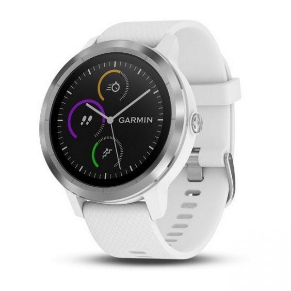 Garmin Vivoactive 3 Smart Watch – White Silicone & Stainless Steel | 010-01769-20