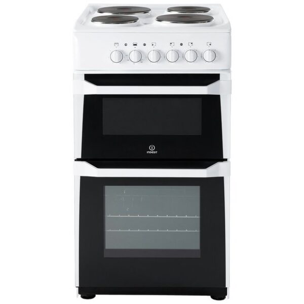 Indesit 50cm Solid Plate Cooker – ID5E92KMW