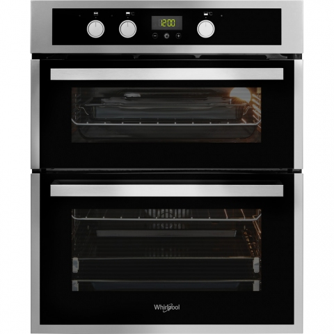 Whirlpool Built-Under Double Oven – Inox and Black AKL 307 IX