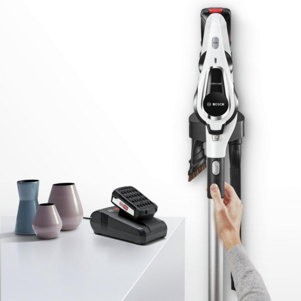 Bosch Serie 8 Unlimited Cordless Vacuum Cleaner – White – BCS122GB