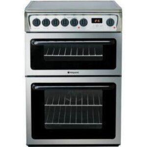 Hotpoint 60cm Ceramic Cooker Stainless Steel – HAE60X