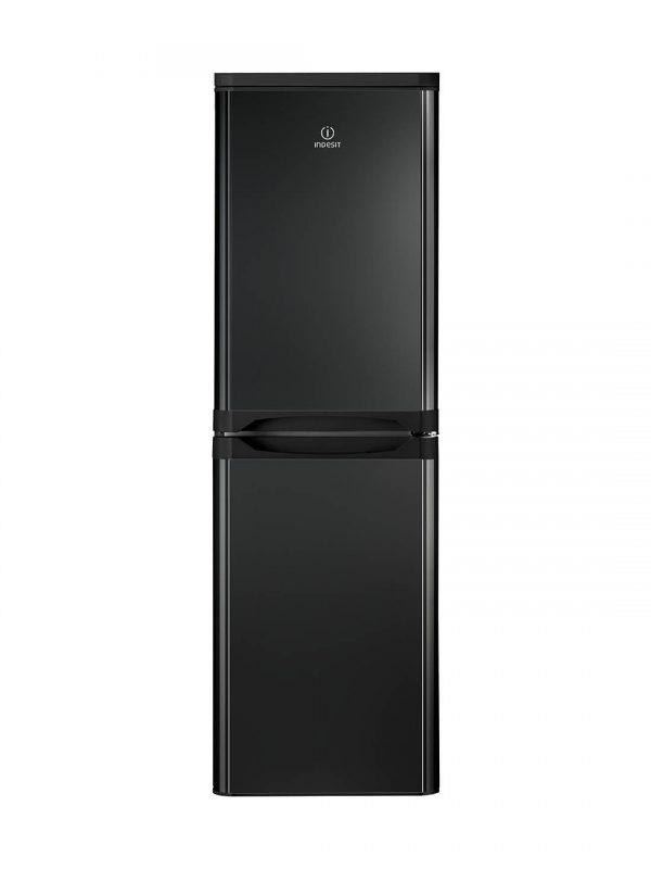 Indesit 50/50 fridge freezer black IBD5517B