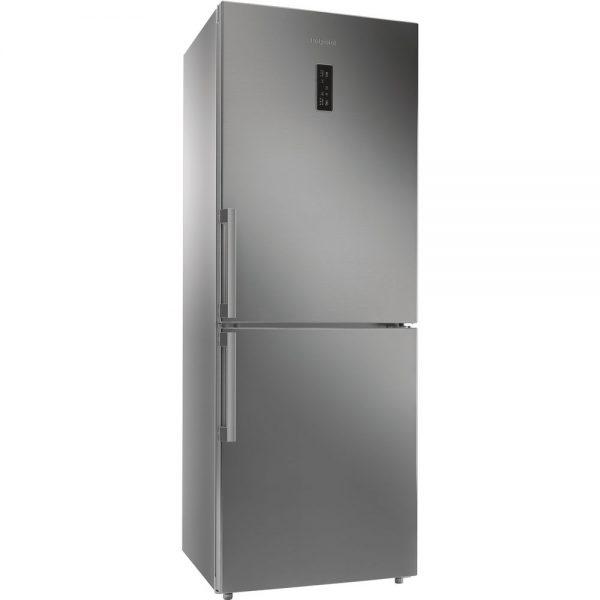 Hotpoint fridge freezer 70cm st/steel NFFUD191X