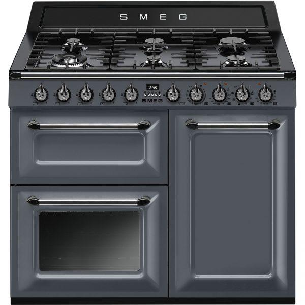 Smeg Victoria Dual Fuel Range Cooker 100cm Wide – Slate Grey – TR103GR