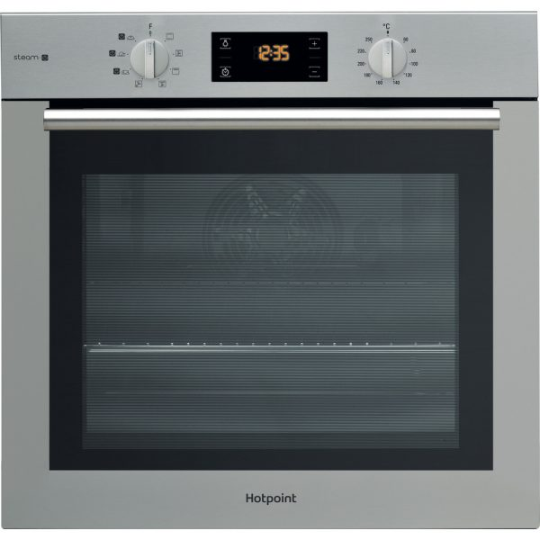 Hotpoint Built-In Multifunction Gentle Steam Electric Single Oven – Stainless Steel | FA4S544IXH