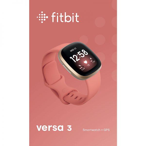 Fitbit Versa 3 Health & Fitness Pink Clay Smart Watch | 79-FB511GLPK
