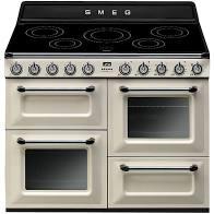 SMEG Victoria Range Cooker with Induction Hob 110cm Cream – TR4110IP