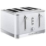 Russell Hobbs Inspire 4-Slice Toaster – White – 24380