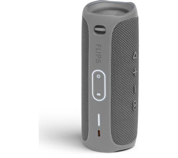 JBL Flip 5 Portable Bluetooth Wireless Speaker – Grey – JBLFLIP5GRY
