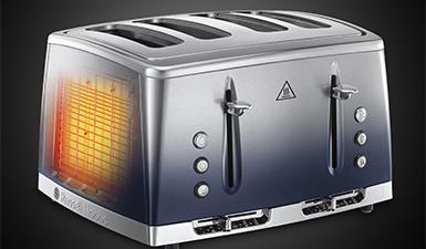 Russell Hobbs Eclipse 2400W 4 Slice Toaster – Midnight Blue – 25141