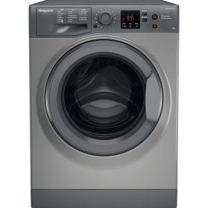 Hotpoint 8kg 1400 spin washing machine graphite – NSWM843CGG