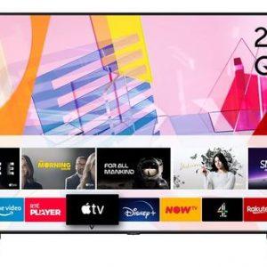 Samsung Q60T 55″ 4K Quantum HDR QLED Smart TV – Black | QE55Q60TAUXXU