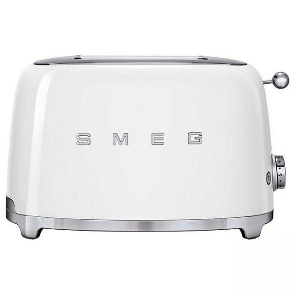 Smeg 50's Retro Style Aesthetic 2 Slice Toaster White – TSF01WHUK