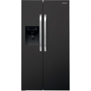 Hotpoint American fridge black ice + water SXBHE925WDUK